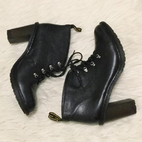 454588a2a4b3 Dr. Martens Shoes - Dr. Martens  Annika  Black Leather Heel Booties
